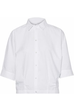 J BRAND Pleated cotton-poplin shirt