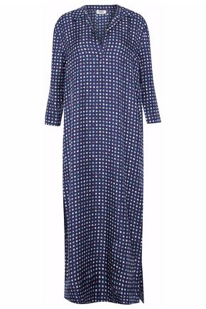 SLEEPY JONES Printed silk night dress