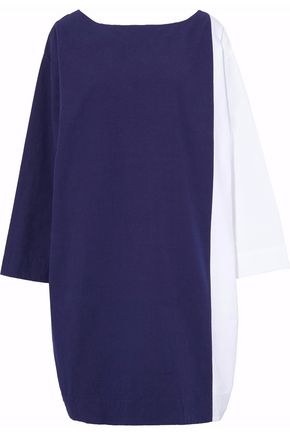 SLEEPY JONES Two-tone cotton nightdress