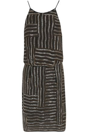 DIANE VON FURSTENBERG Beaded silk dress
