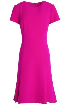 OSCAR DE LA RENTA Wool-blend twill dress