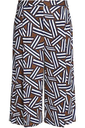 DIANE VON FURSTENBERG Printed silk-jersey culottes