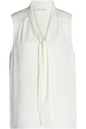 DIANE VON FURSTENBERG Pussy-bow silk crepe de chine blouse