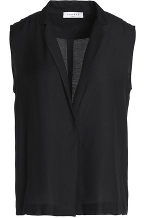SANDRO Paris Louise jersey top
