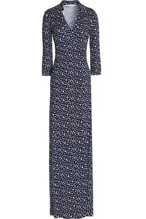DIANE VON FURSTENBERG Printed silk-jersey wrap maxi dress