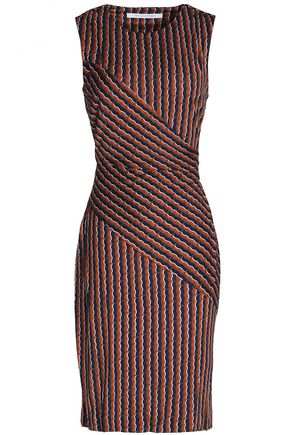 DIANE VON FURSTENBERG Paneled printed silk-jersey dress