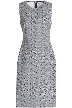 DIANE VON FURSTENBERG Printed cady dress