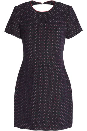 SANDRO Cutout jacquard mini dress