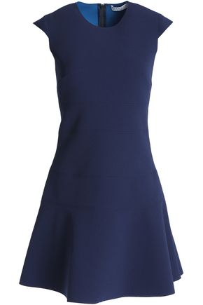 SANDRO Fluted crepe mini dress