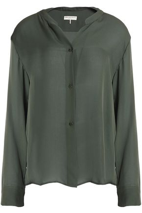 EMILIO PUCCI Silk-chiffon shirt