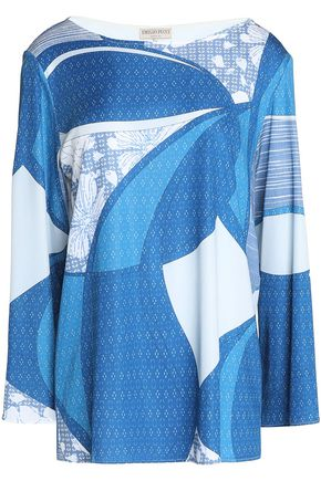 EMILIO PUCCI Draped printed jersey top