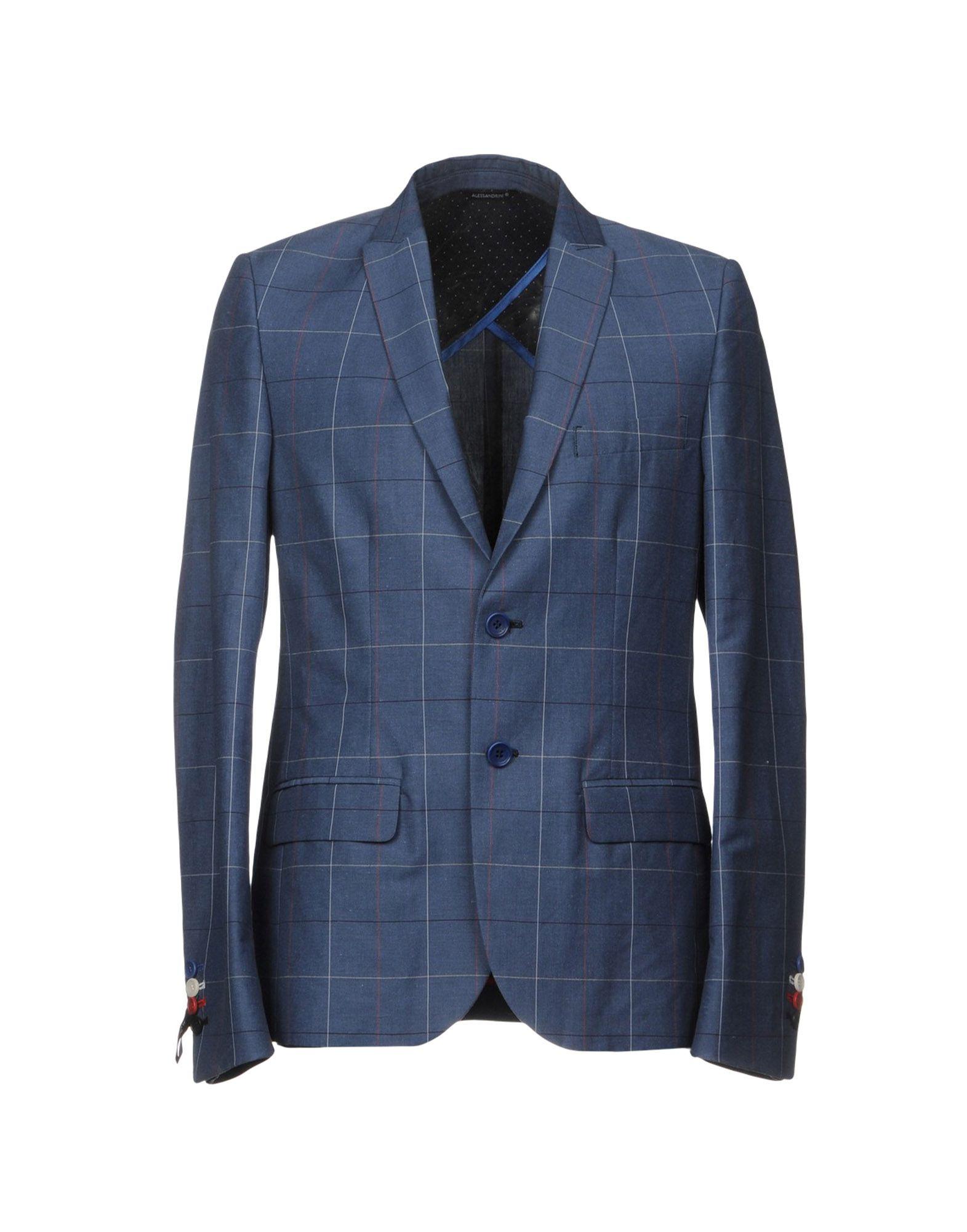 GREY DANIELE ALESSANDRINI Blazers in Slate Blue