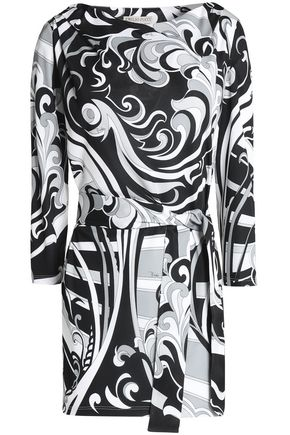 EMILIO PUCCI Belted printed jersey blouse