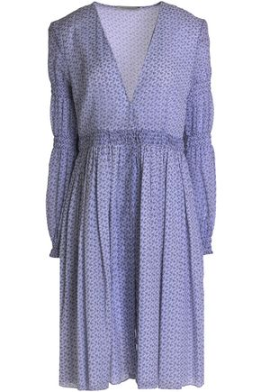 EMILIA WICKSTEAD Smocked floral-print cotton-gauze dress