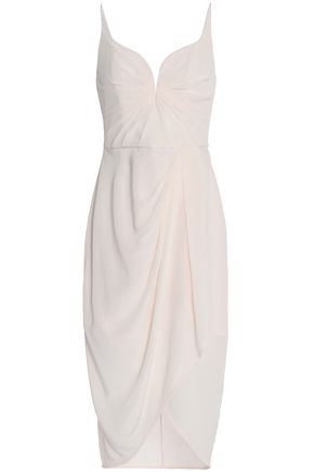 ZIMMERMANN Draped silk-satin dress