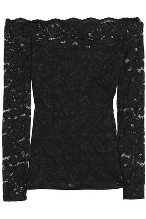 L'AGENCE Off-the-shoulder lace top