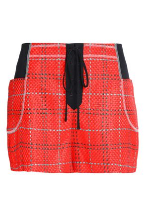 3.1 PHILLIP LIM Skirt-effect jacquard shorts