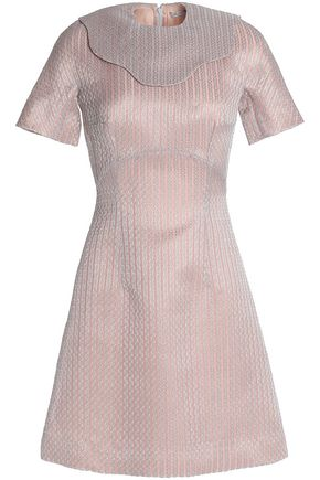 EMILIA WICKSTEAD Metallic embroidered cotton-blend mini dress