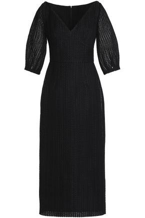 EMILIA WICKSTEAD Embroidered cotton-blend midi dress