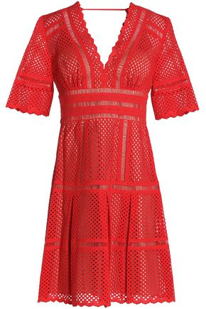 CATHERINE DEANE Flared broderie anglaise cotton mini dress