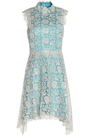 CATHERINE DEANE Izzy asymmetric metallic lace dress