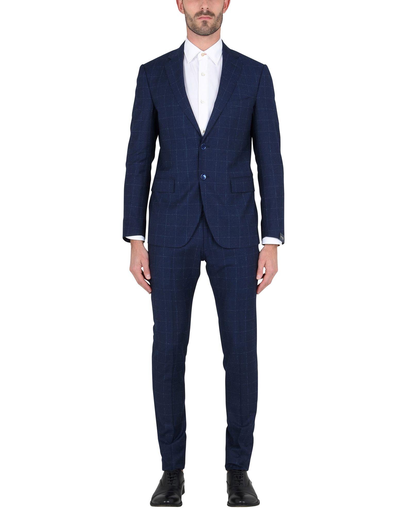《送料無料》BAGNOLI Sartoria Napoli メンズ スーツ ブルー 52 バージンウール 100%