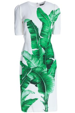 DOLCE & GABBANA Printed crepe dress