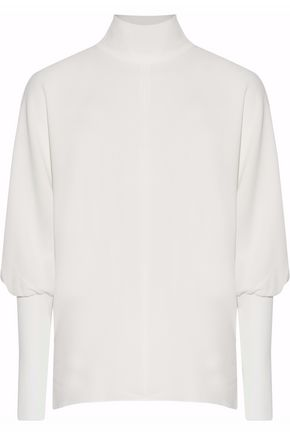 TIBI Crepe turtleneck blouse