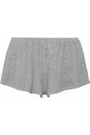 EBERJEY Waffle-knit pajama shorts