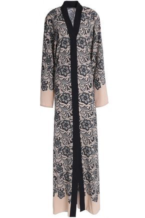 DOLCE & GABBANA Floral-print stretch-silk crepe de chine maxi dress