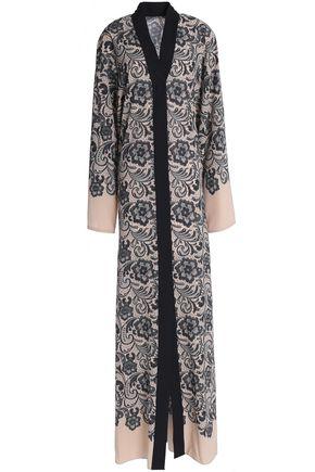 DOLCE & GABBANA Floral-print silk-blend gown