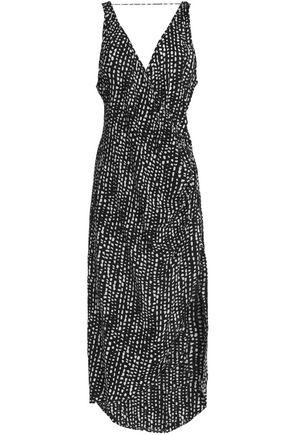VIX PAULAHERMANNY Printed crepe de chine wrap dress