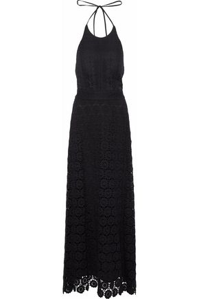 THEORY Guipure lace halterneck  maxi dress