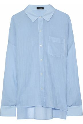 THEORY Lourah cotton-gauze shirt