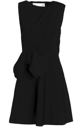 VICTORIA, VICTORIA BECKHAM Bow-detailed ponte mini dress