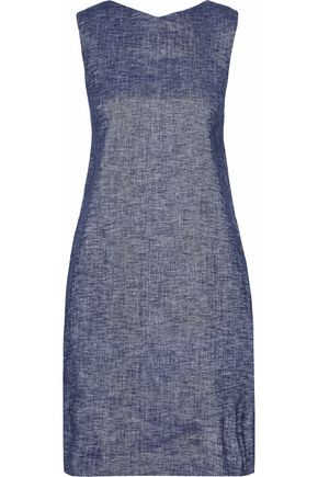 THEORY Linen-blend chambray mini dress
