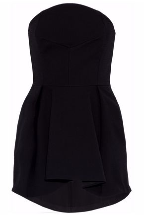 NICHOLAS Strapless pleated crepe top