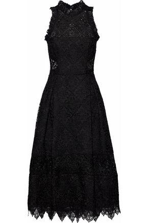 NICHOLAS Flared guipure lace dress