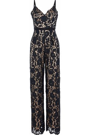 CATHERINE DEANE Hope guipure lace jumpsuit