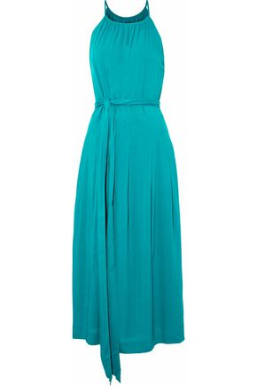 VANESSA SEWARD Belted draped voile midi dress