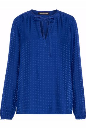 VANESSA SEWARD Silk-jacquard top