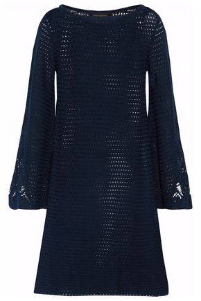 VANESSA SEWARD Flared crochet-knit cotton dress
