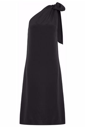 VANESSA SEWARD One-shoulder tied silk crepe de chine midi dress