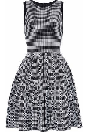 ALICE + OLIVIA Houndstooth knitted dress