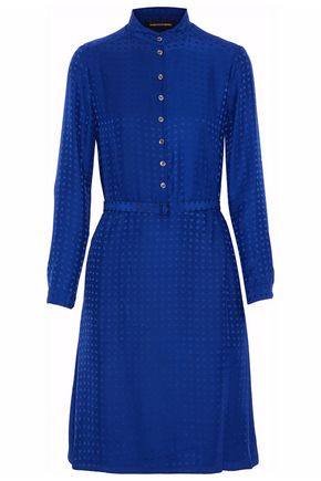 VANESSA SEWARD Belted silk-jacquard dress