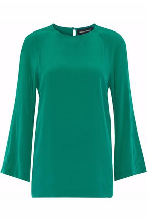 VANESSA SEWARD Flared silk-crepe blouse
