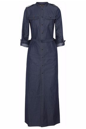 VANESSA SEWARD Belted denim maxi dress