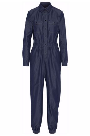 VANESSA SEWARD Gathered denim jumpsuit