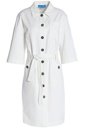 M.I.H JEANS Belted denim mini dress