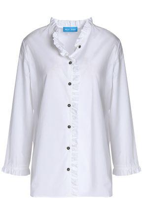 M.I.H JEANS Ruffled cotton-poplin shirt